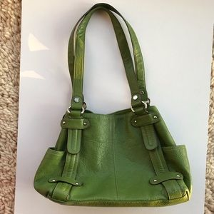 Tignanello Green Shoulder Bag